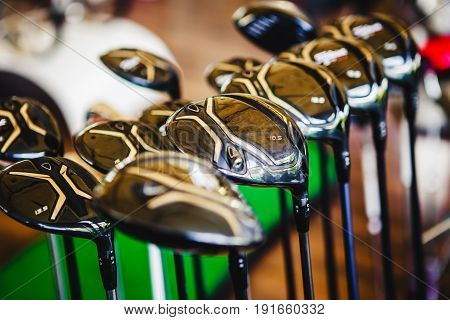 A Shiny Metal Golf Clubs For Sale
