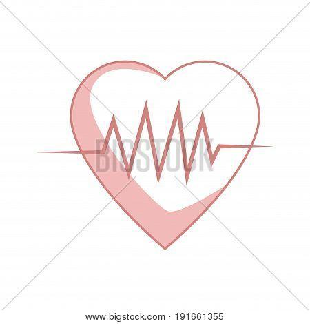 heartbeat cardiology healthy medical symbol vector illustration
