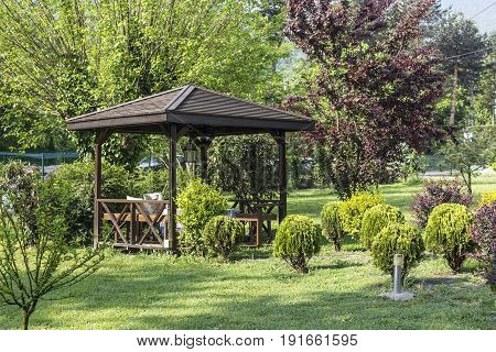 Gazebo in the park to set the mood and relax
