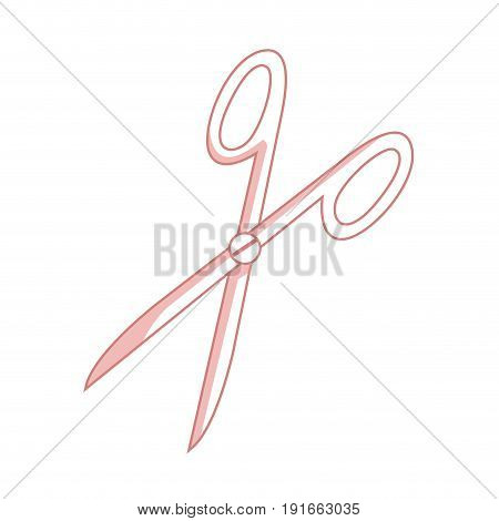 medical scissors to urgency clinical operation vector illustration