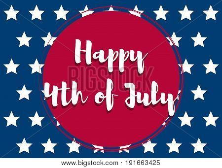 Fourth of July. United States independence day greeting card. July fourth typographic design. Vector illustration