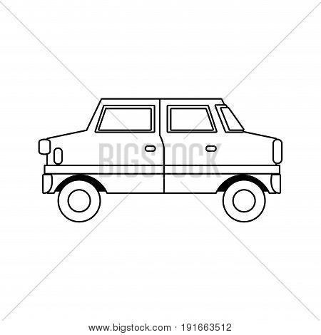 cartoon car vehicle transport wheel motor vector illustration