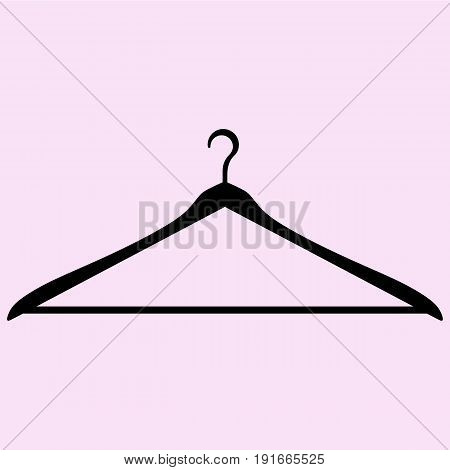 coat hanger vector silhouette isolated on background