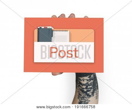 Illustration of personal organizer notepad on banner