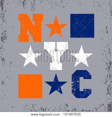New York typography design graphic t-shirt printing man NYC original design clothing clothing graphic design emblem