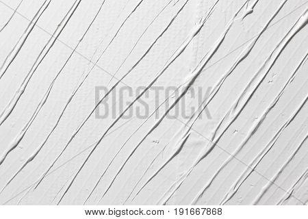 Relief White Texture Plaster Structure Background Stucco Repair Stripe Decorative Free Space Design Concept