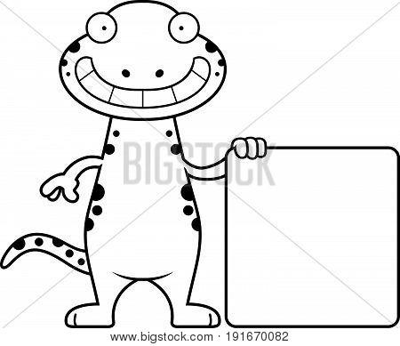 Cartoon Salamander Sign