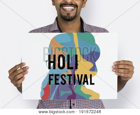 Holi Color Festival Celebration Concept