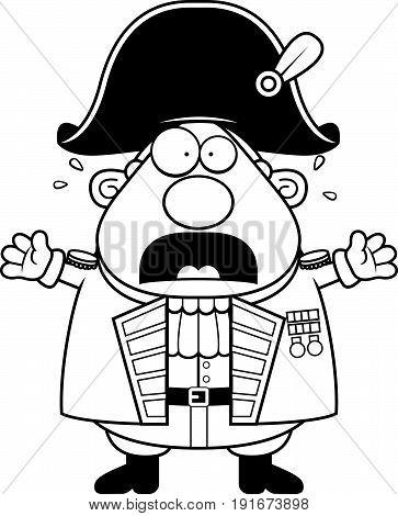 Scared Cartoon British Admiral
