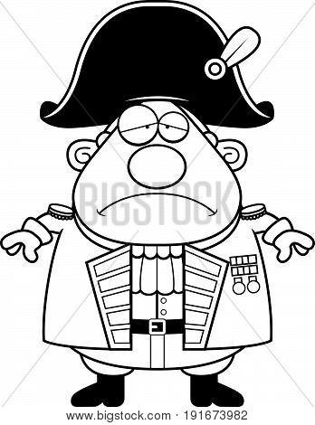 Sad Cartoon British Admiral