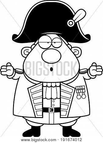 Confused Cartoon British Admiral