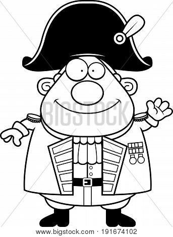 Cartoon British Admiral Waving