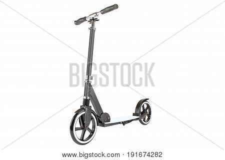 Black scooter photo on white background isolation