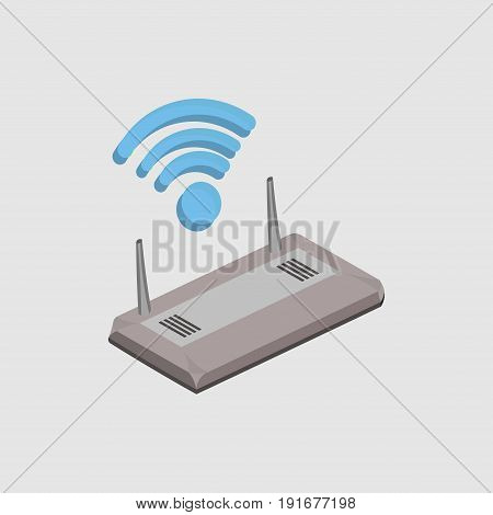 wi-fi router wireless technology mobile devices purchase sale of internet wireless coverage flat design image