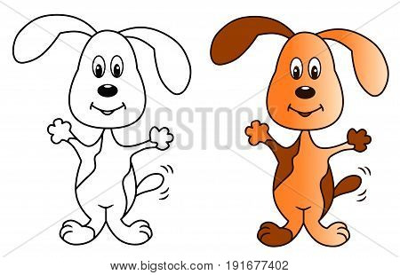 Spotted dog colored vector illustration sketch animal