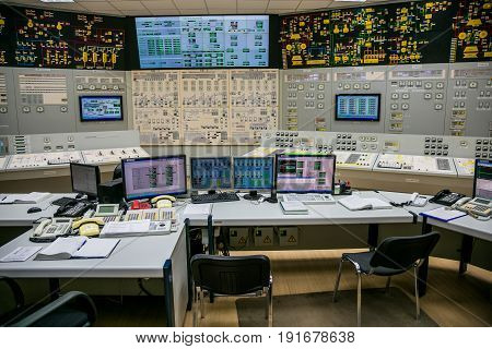 Block control panel of nuclear power plant