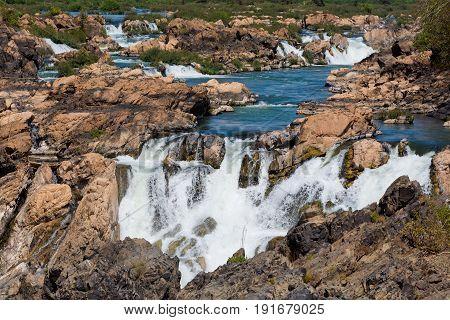 Li Phi Waterfall In Laos