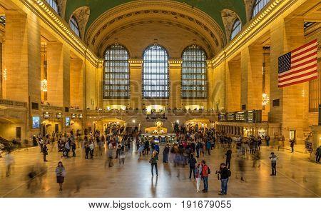 New York NY USA - Jun 6 2017. Grand Central terminal in New York City.