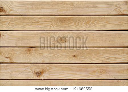 Wooden slats horizontal brown background with pattern