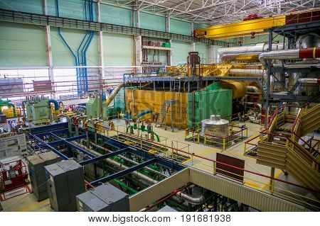 The machinery hall of Nuclear Power Plant