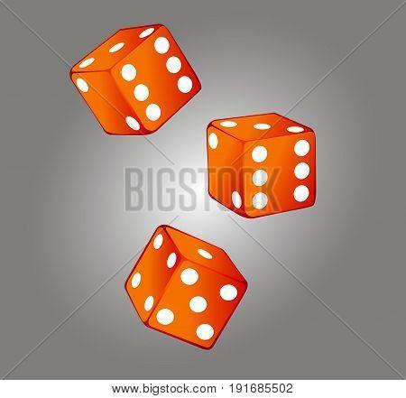 Game dices icon isolated casino symbol minimal design.