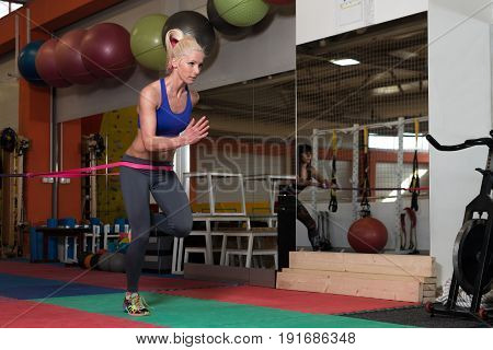 Couple Train Together With Resistance Bands