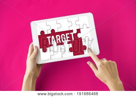 Plan Target Aspiration word puzzle maze