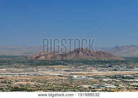 Camelback Mountain in Phoenix Arizona from South Mountain