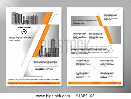 Minimal flyers report business magazine poster layout portfolio template.Brochure design template vector.Square layout in cover book portfolio presentation poster.City design on A4 brochure layout