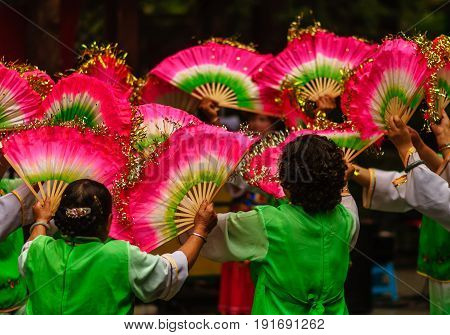 voew on traditional Dance Festival in Chengdu China