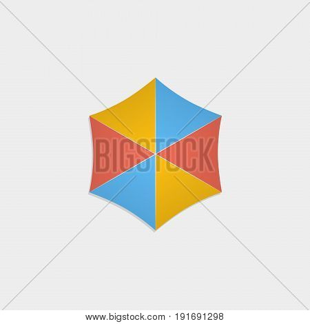 Beach umbrella icon flat stock vector illustration