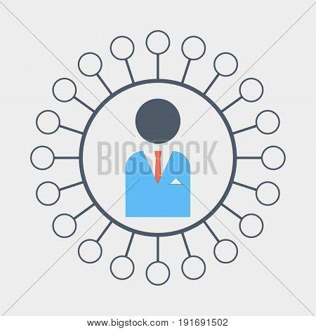 business development icon flat stock vector illustration