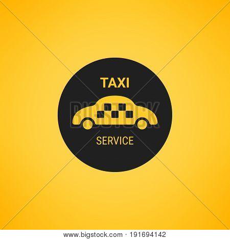Taxi logo. Taxi service. Public transport symbol.