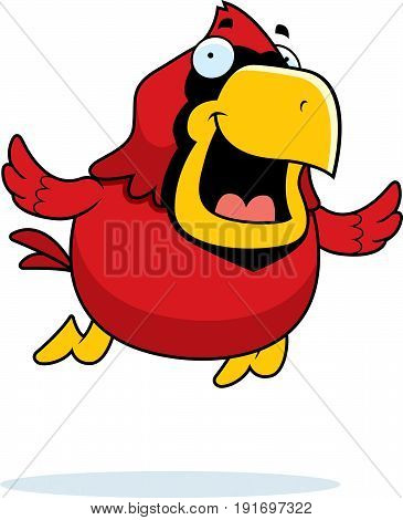 Cartoon Cardinal Flying