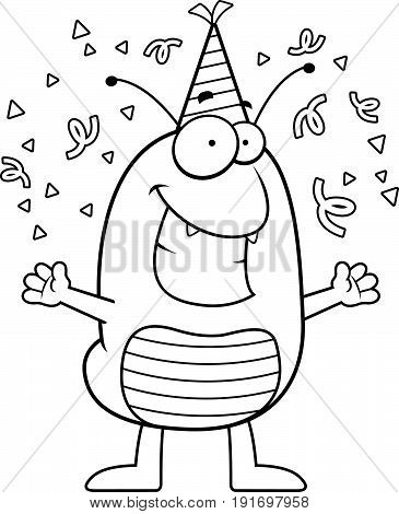 Cartoon Flea Celebrating
