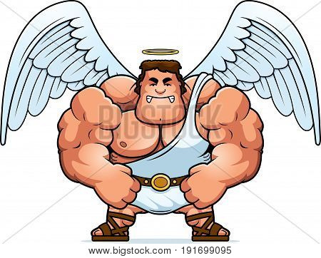 Angry Cartoon Angel