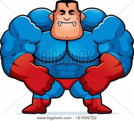 Angry Cartoon Superhero