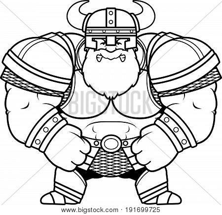 Angry Cartoon Viking