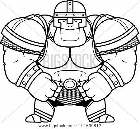 Smiling Cartoon Warrior