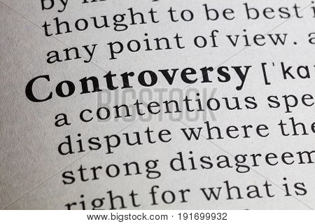 Fake Dictionary Dictionary definition of the word controversy.