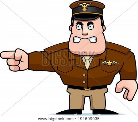 Cartoon Captain Pointing