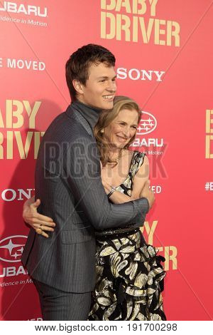 LOS ANGELES - JUN 14:  Ansel Elgort, Grethe Barrett Holby at the