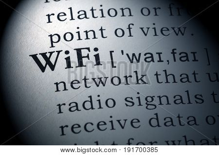 Fake Dictionary Dictionary definition of word wifi.
