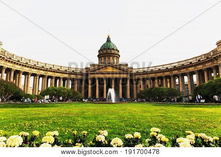 Kazan Cathedral, the Cathedral of the Kazan Icon of the Mother of God - one of the largest churches in St. Petersburg