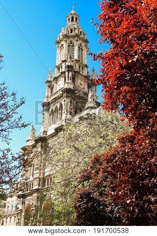 The famous Catholic Saint Trinity church, Paris, France.