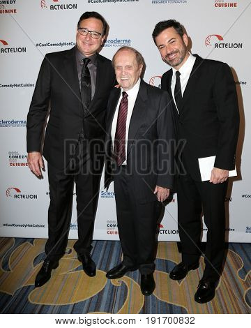 LOS ANGELES - JUN 16:  Bob Saget, Bob Newharat, Jimmy Kimmel at the 30th Annual Scleroderma Benefit at the Beverly Wilshire Hotel on June 16, 2017 in Beverly Hills, CA