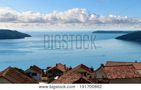 Kotor bay seascape, Herceg Novi, Montenegro, Balkans, Europe