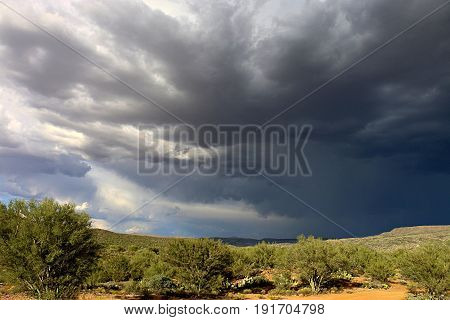 Sonoran Desert Thunderstorm near Phoenix, Arizona, USA