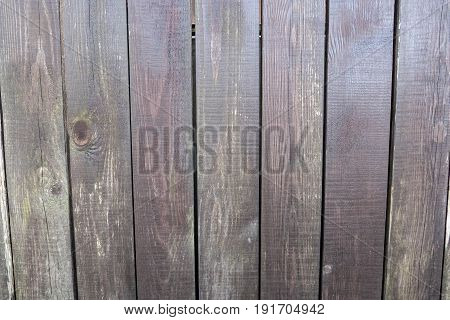 Fence made of boards planed wooden planks outside exterior. Carpenter natural homemade product is made of wood. Background the Fencing of the outer from a natural material.