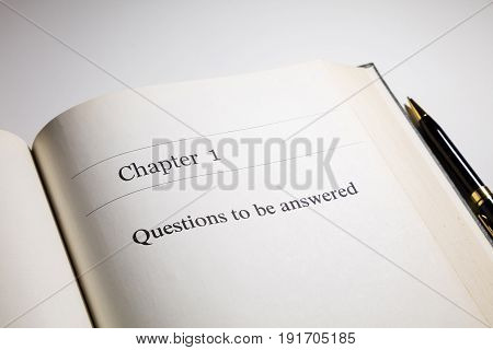 fake book. chapter one Questions to be answered
